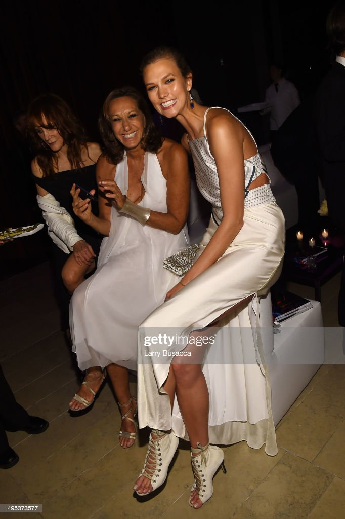 Designer Donna Karan and model Karlie Kloss attend the 2014 CFDA fashion awards at Alice Tully Hall Lincoln Center on June 2 2014 in New York City