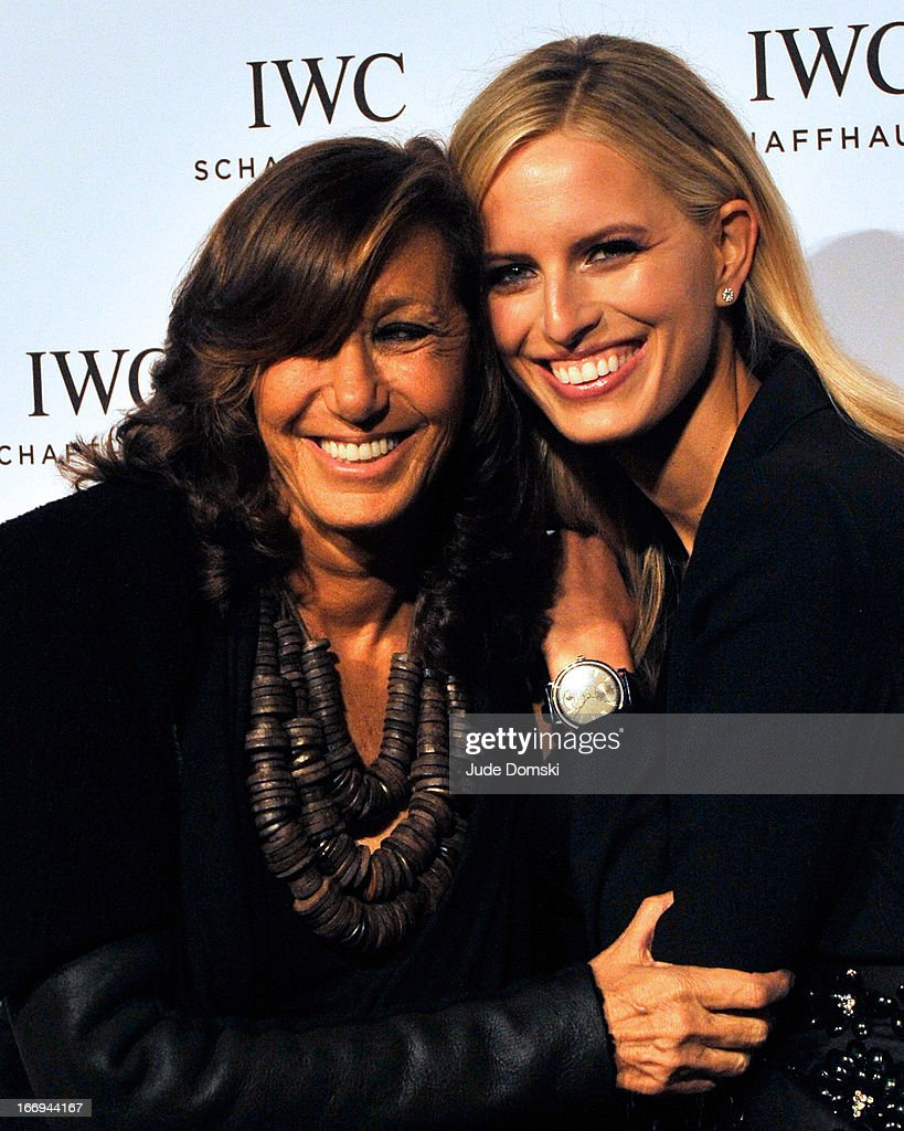 Designer Donna Karan and Model <a gi-track='captionPersonalityLinkClicked' href=/galleries/search?phrase=Karolina+Kurkova&family=editorial&specificpeople=202513 ng-click='$event.stopPropagation()'>Karolina Kurkova</a> attend IWC And Tribeca Film Festival Celebrate 'For The Love Of Cinema' at Urban Zen on April 18, 2013 in New York City.