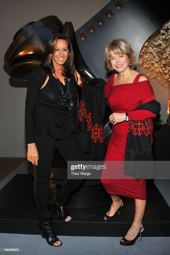 Designer Donna Karan and Pat Mitchell attend the Celebrate Sundance Institute benefit for its Theatre Program, supported by CÎROC Vodka at the Stephen Weiss Studio on April 8, 2013 in New York City.