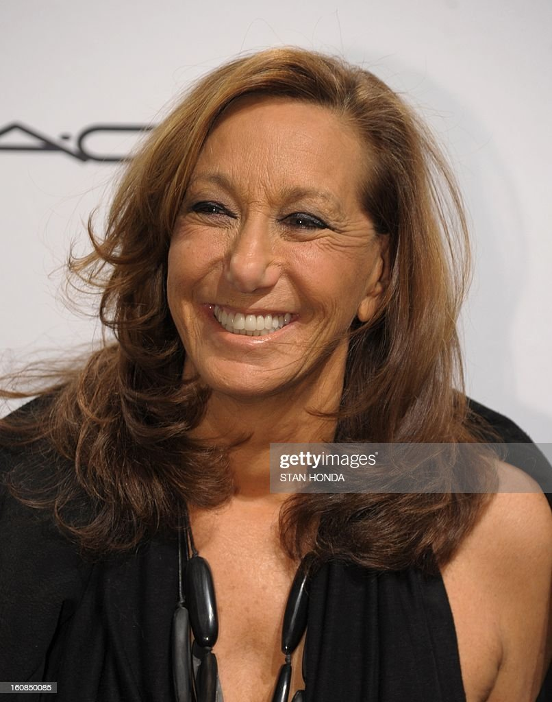 Designer Donna Karan arrives at the amfAR (The Foundation for AIDS Research) gala that kicks off the Mercedes-Benz Fashion Week February 6, 2013 in New York. AFP PHOTO/Stan HONDA