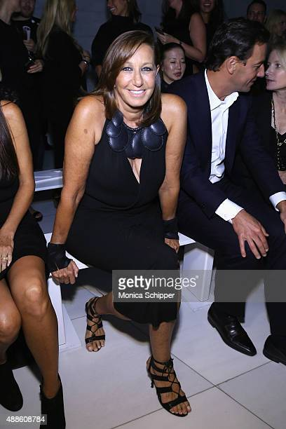 Designer Donna Karan attends DKNY Women's Spring 2016 during New York Fashion Week The Shows on September 16 2015 in New York City