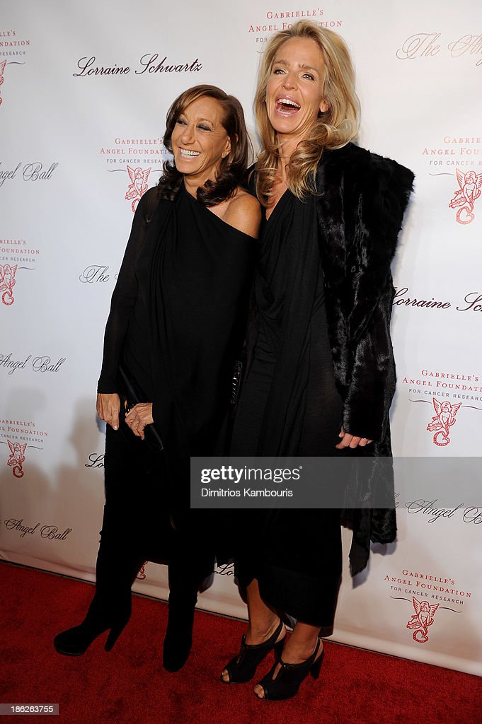 Designer Donna Karan (L) attends Gabrielle's Angel Foundation Hosts Angel Ball 2013 at Cipriani Wall Street on October 29, 2013 in New York City.