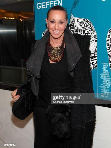 Designer Donna Karan attends 'Inventing David Geffen' premiere at the Paris Theater on November 5 2012 in New York City