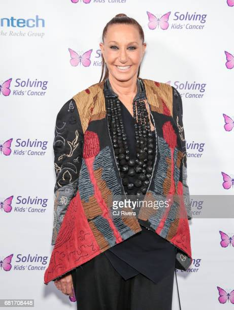 Designer Donna Karan attends Solving Kids' Cancer Spring Celebration 10 Years of Hope and Healing at Mandarin Oriental New York on May 10 2017 in New...