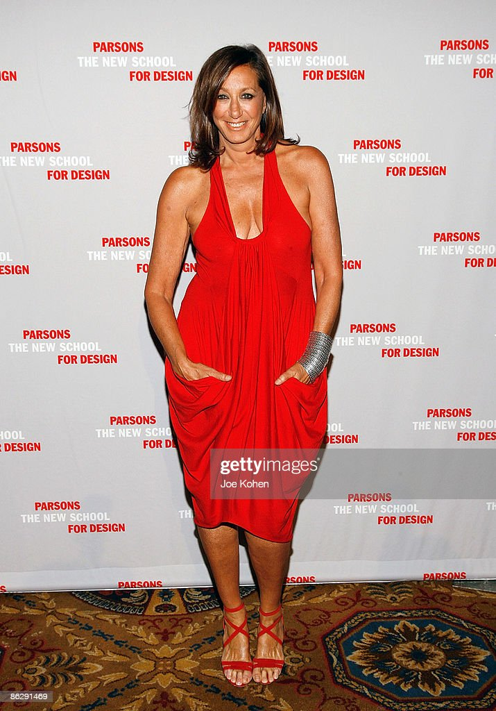 Designer Donna Karan attends the 2009 Parsons Fashion benefit at Cipriani Wall Street on April 29 2009 in New York City
