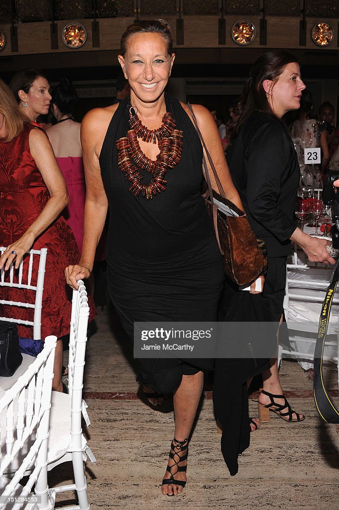 Designer Donna Karan attends the 2012 Couture Council for the Museum at FIT Award for Artistry of Fashion to Oscar de la Renta at the David H. Koch Theater at Lincoln Center on September 5, 2012 in New York City.