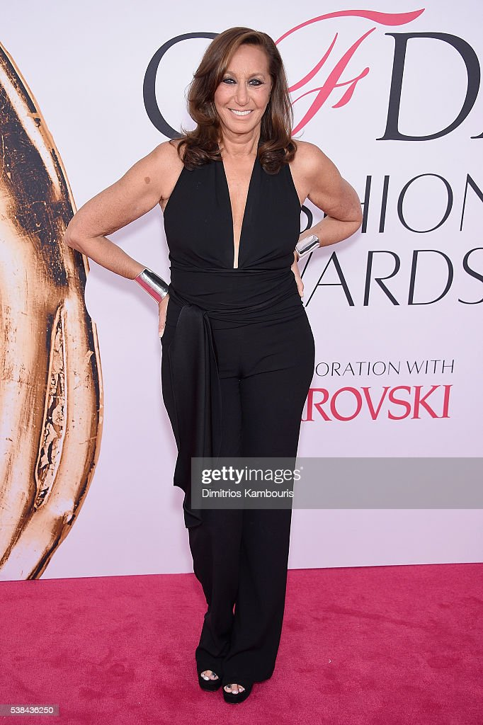 Designer <a gi-track='captionPersonalityLinkClicked' href=/galleries/search?phrase=Donna+Karan+-+Fashion+Designer&family=editorial&specificpeople=4206478 ng-click='$event.stopPropagation()'>Donna Karan</a> attends the 2016 CFDA Fashion Awards at the Hammerstein Ballroom on June 6, 2016 in New York City.