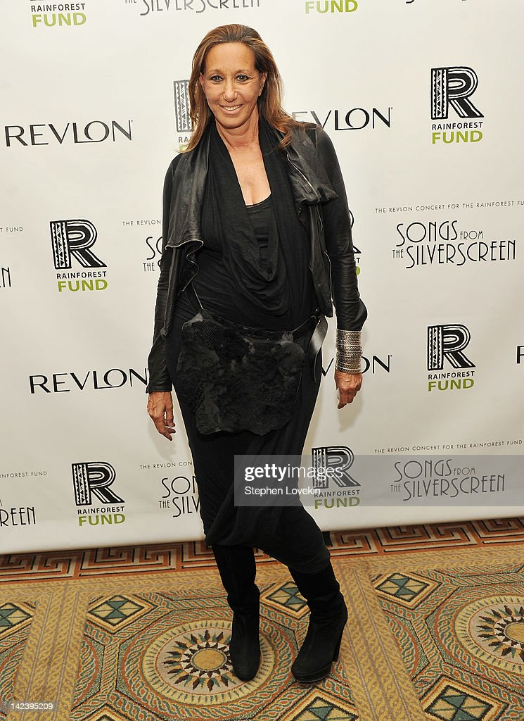Designer Donna Karan attends the after party for the 2012 Concert for the Rainforest Fund at The Pierre Hotel on April 3, 2012 in New York City.