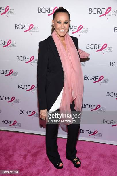 Designer Donna Karan attends The Breast Cancer Research Foundation's 2017 Hot Pink Party at the Park Avenue Armory on May 12 2017 in New York City