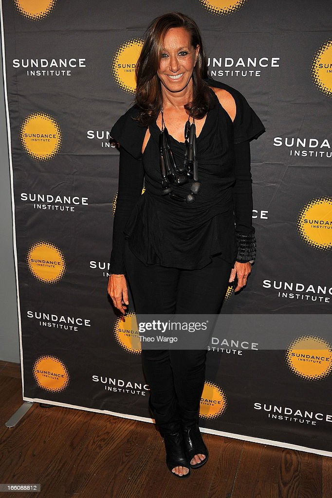 Designer Donna Karan attends the Celebrate Sundance Institute benefit for its Theatre Program, supported by CÎROC Vodka at the Stephen Weiss Studio on April 8, 2013 in New York City.