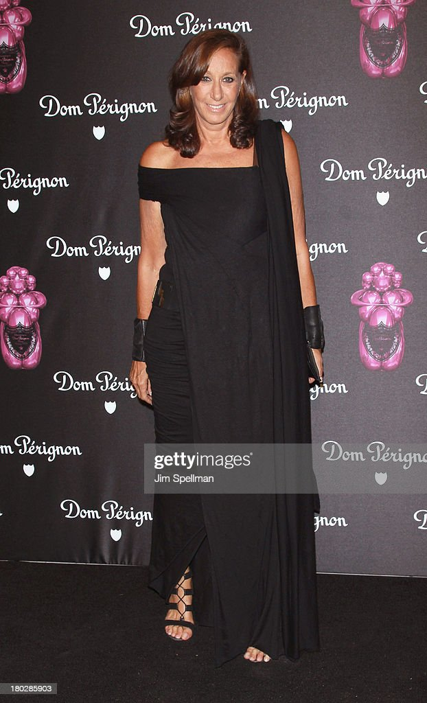 Designer Donna Karan attends the Dom Perignon Limited Edition Jeff Koons Bottle Launch at 711 Greenwich Street on September 10, 2013 in New York City.