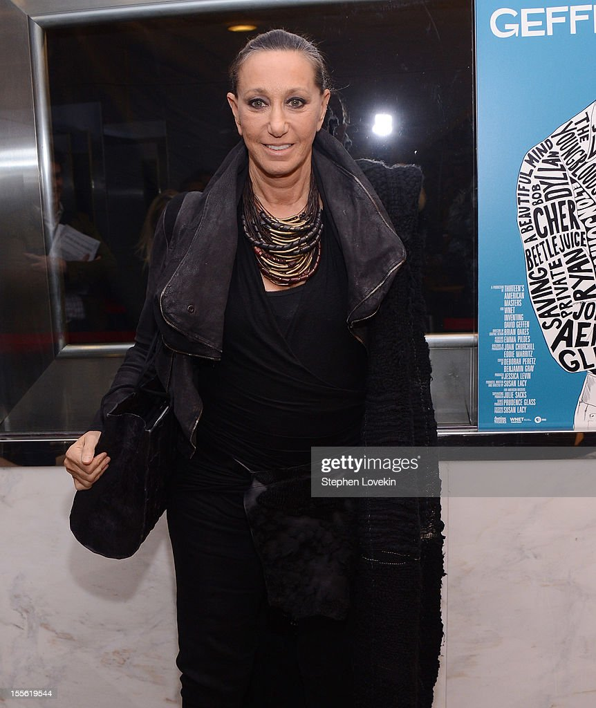 Designer Donna Karan attends the 'Inventing David Geffen' New York Premiere at Paris Theater on November 5, 2012 in New York City.