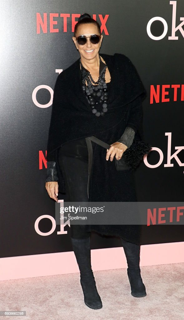 Designer Donna Karan attends The New York premiere of 'Okja' hosted by Netflix at AMC Lincoln Square Theater on June 8, 2017 in New York City.
