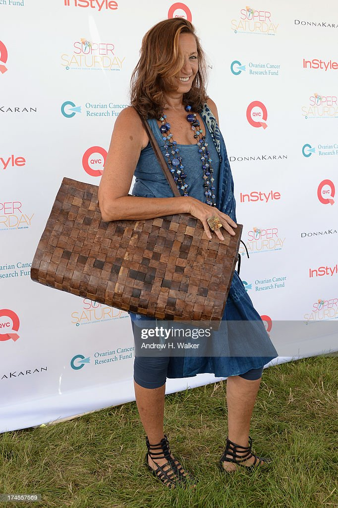 Designer Donna Karan attends the Ovarian Cancer Research Fund's 16th Annual Super Saturday hosted by Kelly Ripa and Donna Karan at Nova's Ark Project on July 27, 2013 in Water Mill, NY.