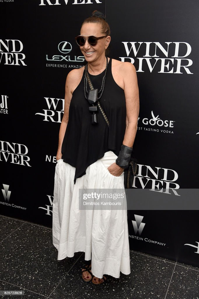 Designer Donna Karan attends the Screening Of 'Wind River' at The Museum of Modern Art on August 2, 2017 in New York City.