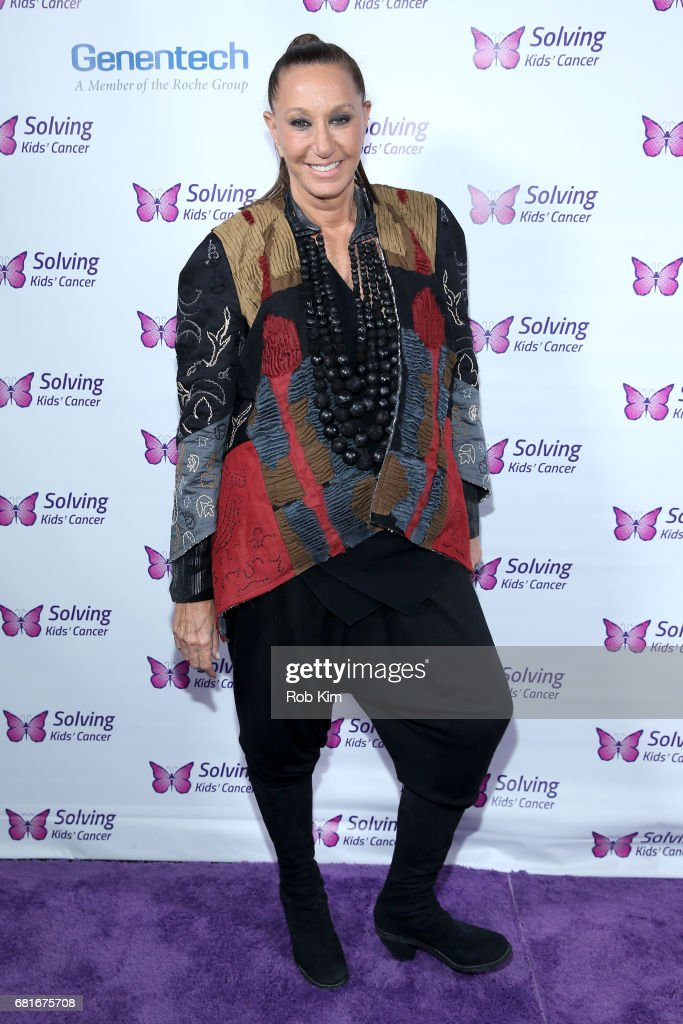 Designer Donna Karan attends the Solving Kids' Cancer Spring Celebration: 10 Years Of Hope And Healing at Mandarin Oriental New York on May 10, 2017 in New York City.