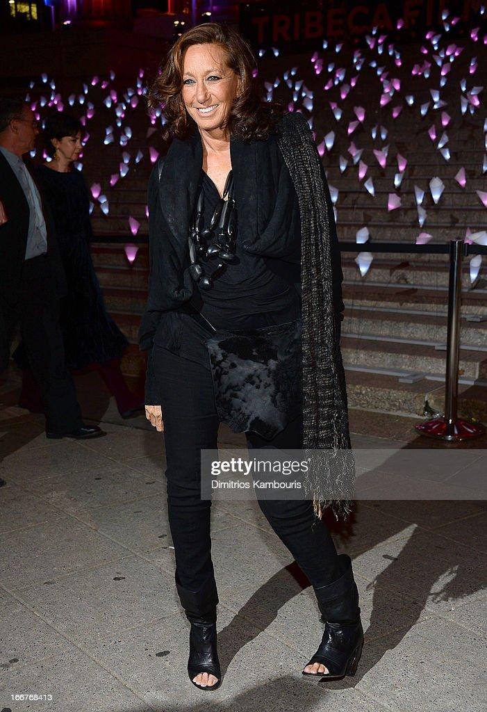 Designer Donna Karan attends Vanity Fair Party for the 2013 Tribeca Film Festival on April 16, 2013 in New York City.