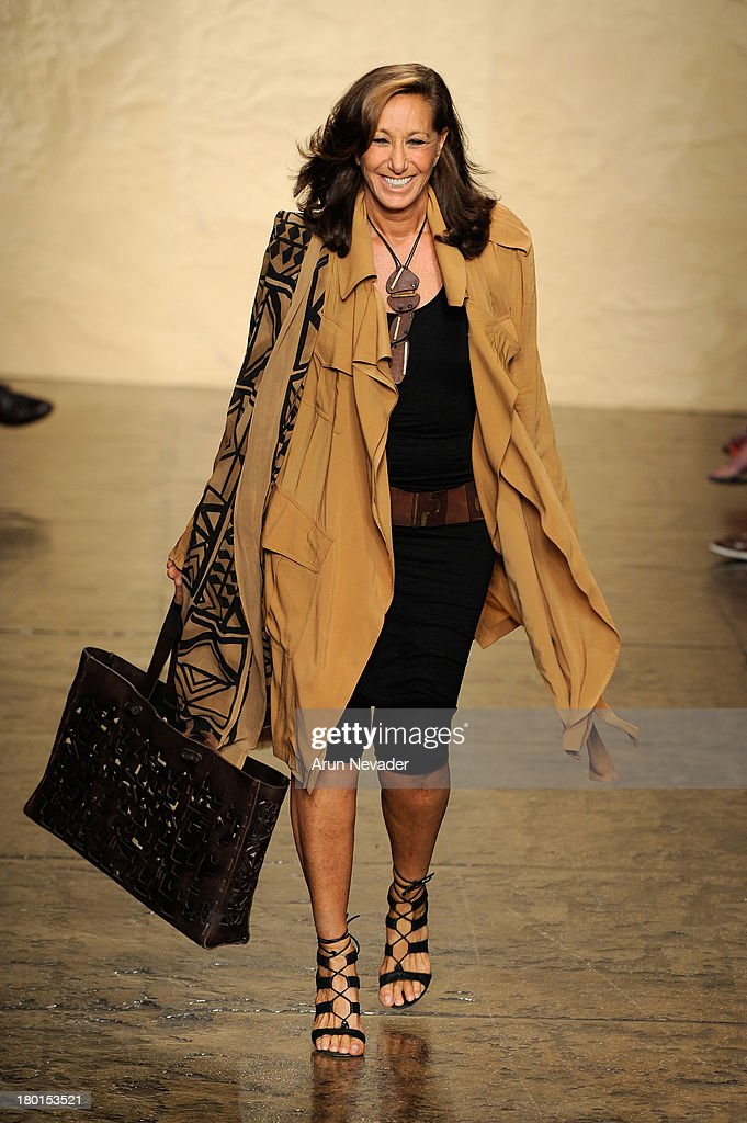 Designer Donna Karan walks the runway at the Donna Karan New York fashion show during Mercedes-Benz Fashion Week Spring 2014 on September 9, 2013 in New York City.