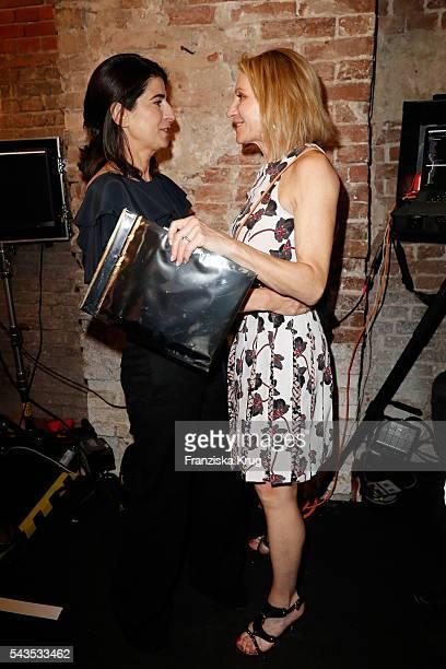 Designer Dorothee Schumacher and Kimberly Emerson attend the Dorothee Schumacher show during the MercedesBenz Fashion Week Berlin Spring/Summer 2017...