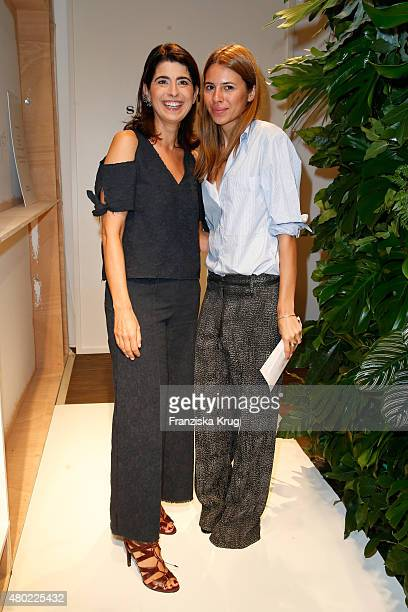 Designer Dorothee Schumacher and Maja Wyh are seen ahead of the Dorothee Schumacher show during the MercedesBenz Fashion Week Berlin Spring/Summer...