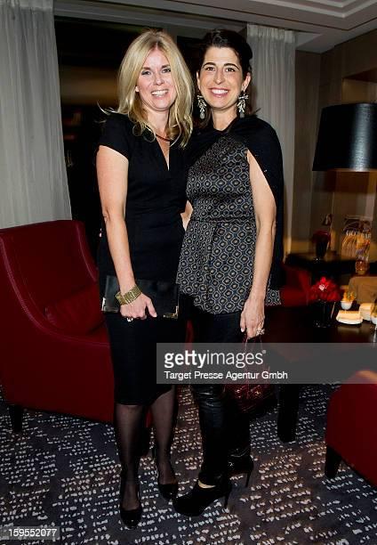 Designer Dorothee Schumacher and Manuela KamppWirtz attend the Elle Soiree Privee during the MercedesBenz Fashion Week at the Waldorf Astoria on...