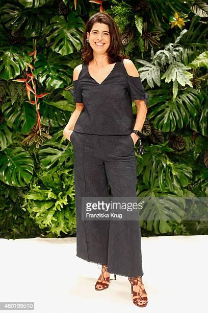 Designer Dorothee Schumacher attends the Dorothee Schumacher show during the MercedesBenz Fashion Week Berlin Spring/Summer 2016 at Stage at me...