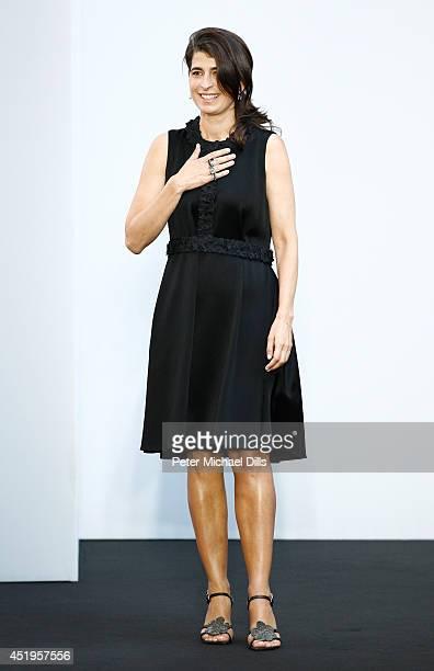 Designer Dorothee Schumacher on the runway at the Schumacher show during the MercedesBenz Fashion Week Spring/Summer 2015 at Sankt Elisabeth Kirche...