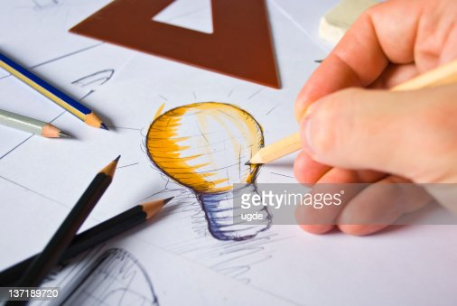 Designer Drawing : Stock Photo