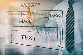 web development design designer seo content - stock image