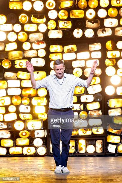 designer Dries van Noten walks the runway during the Dries Van Noten Menswear Spring/Summer 2017 show as part of Paris Fashion Week on June 23 2016...