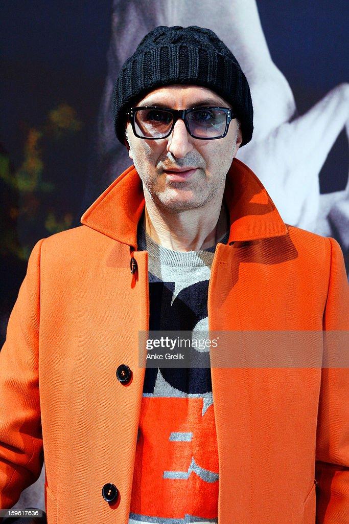 Designer Eduard Howhannisjan attends Mercedes-Benz Fashion Week Autumn/Winter 2013/14 at the Brandenburg Gate on January 17, 2013 in Berlin, Germany.