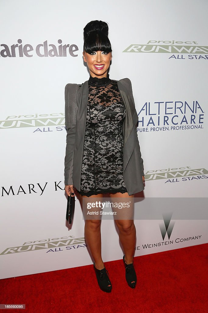 Designer Elena Slivnyak attends the Project Runway All Stars Season 3 Premiere Party Presented By The Weinstein Company And Lifetime In Partnership With Marie Claire, QVC, Mary Kay And Alterna Haircare on October 22, 2013 in New York City.