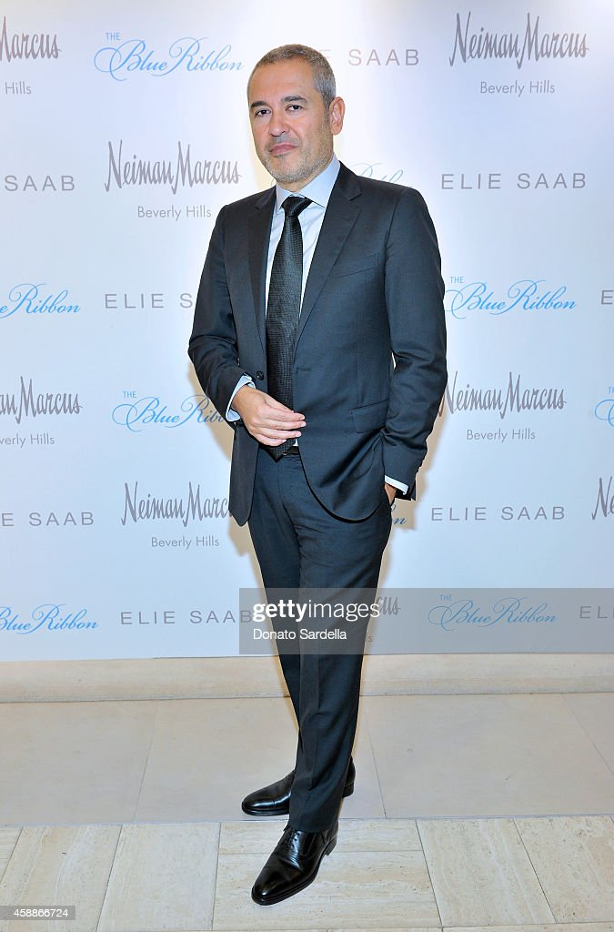 Designer Elie Saab attends Elie Saab Ready To Wear Spring 2015 Presentation & Luncheon at Neiman Marcus on November 12, 2014 in Beverly Hills, California.