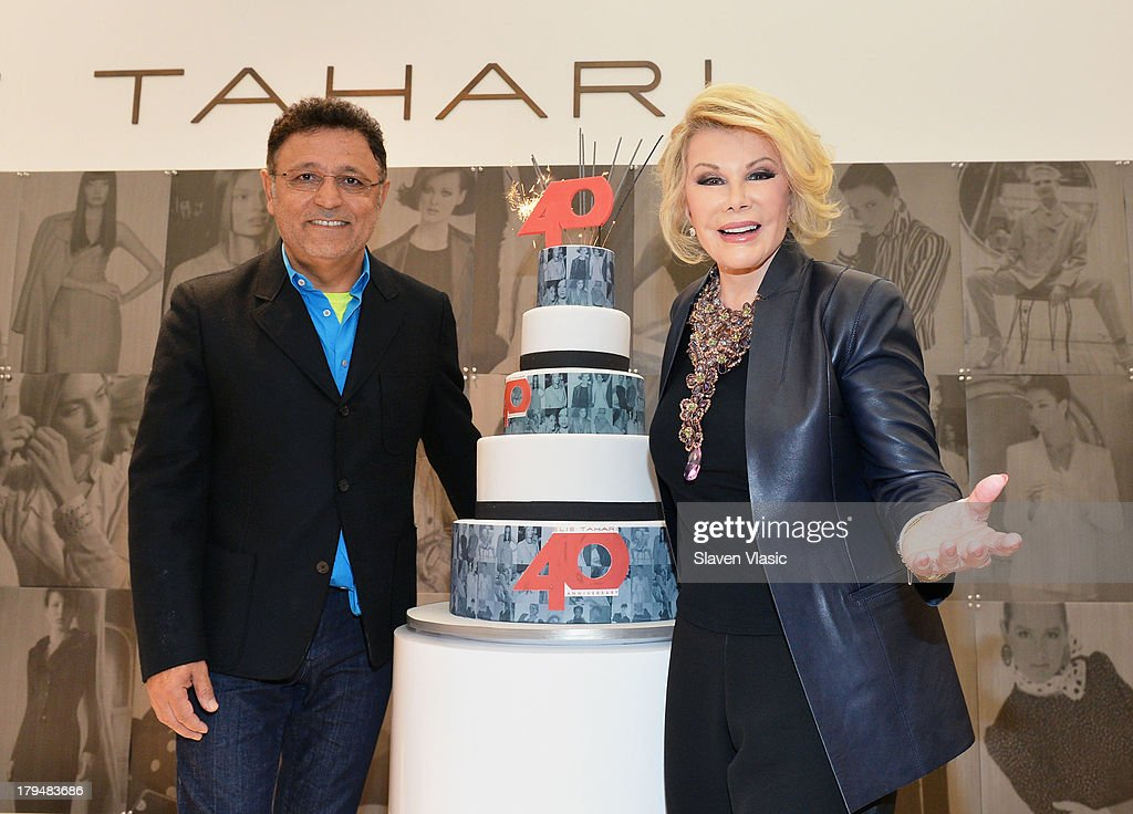 Designer Elie Tahari and TV personality <a gi-track='captionPersonalityLinkClicked' href=/galleries/search?phrase=Joan+Rivers&family=editorial&specificpeople=159403 ng-click='$event.stopPropagation()'>Joan Rivers</a> attend New York City's Elie Tahari Day at Elie Tahari Pop-up Store on September 4, 2013 in New York City.