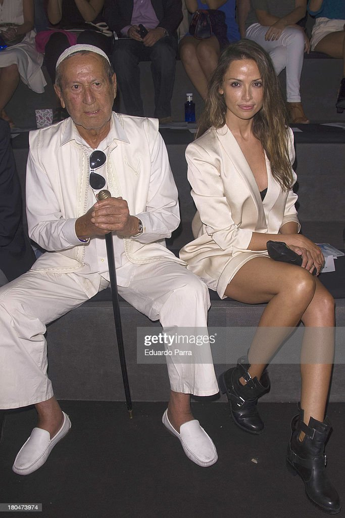 Designer Elio Berhanyer and model Ana Alvarez attend a fashion show during the Mercedes Benz Fashion Week Madrid Spring/Summer 2014 on September 13, 2013 in Madrid, Spain.