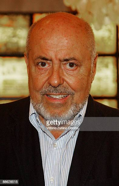 Designer Elio Fiorucci attends 'Biba Is Back' Cocktail Party as part of Milan Fashion Week Menswear S/S 2010 on June 22 2009 in Milan Italy