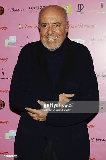 Designer Elio Fiorucci attends the 'Candyland' by Elio Fiorucci Love Therapy show party held at Le Banque on February 10 2012 in Milan Italy