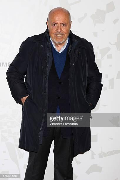 Designer Elio Fiorucci attends the The Vogue Talents Corner fashion show during Milan Fashion Week Womenswear Autumn/Winter 2014 on February 19 2014...
