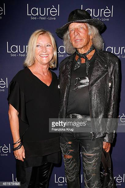 Designer Elisabeth Schwaiger and James Goldstein attend the Laurel show during the MercedesBenz Fashion Week Spring/Summer 2015 at Erika Hess...