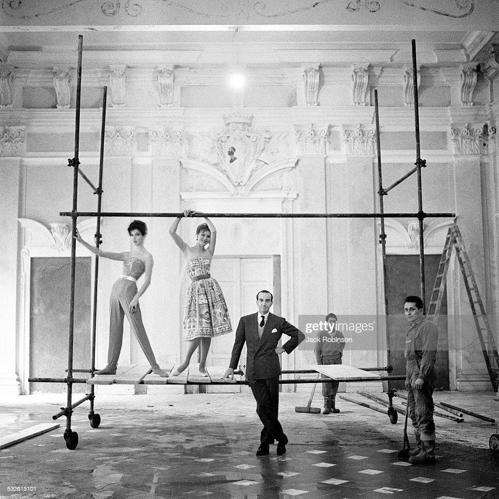Designer Emilio Pucci and his models 20th century