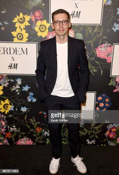 Designer Erdem Moralioglu at HM x ERDEM Runway Show Party at The Ebell Club of Los Angeles on October 18 2017 in Los Angeles California