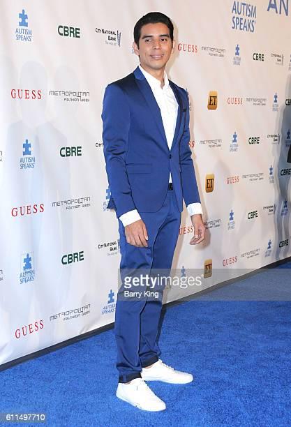 Designer Erick Bendana attends Metropolitan Fashion Week 2016 La Vie En Bleu Signature event benefiting Autism Speaks at Warner Bros Studios on...