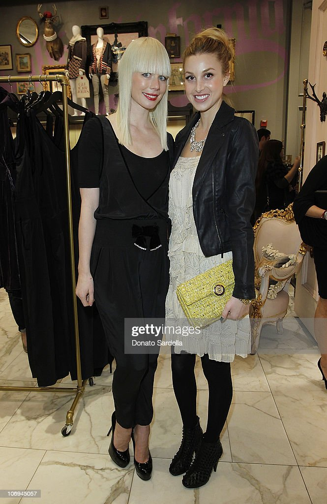Designer Erin Fetherston and actress <a gi-track='captionPersonalityLinkClicked' href=/galleries/search?phrase=Whitney+Port&family=editorial&specificpeople=544473 ng-click='$event.stopPropagation()'>Whitney Port</a> attend Juicy Loves Glamour Girls by Erin Fetherston Launch hosted by Vogue at Juicy Couture on November 17, 2010 in Beverly Hills, California.