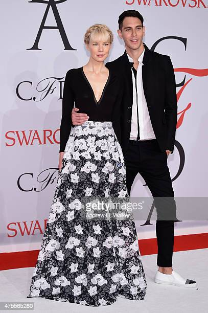 Designer Erin Fetherston and Gabe Saporta attend the 2015 CFDA Fashion Awards at Alice Tully Hall at Lincoln Center on June 1 2015 in New York City