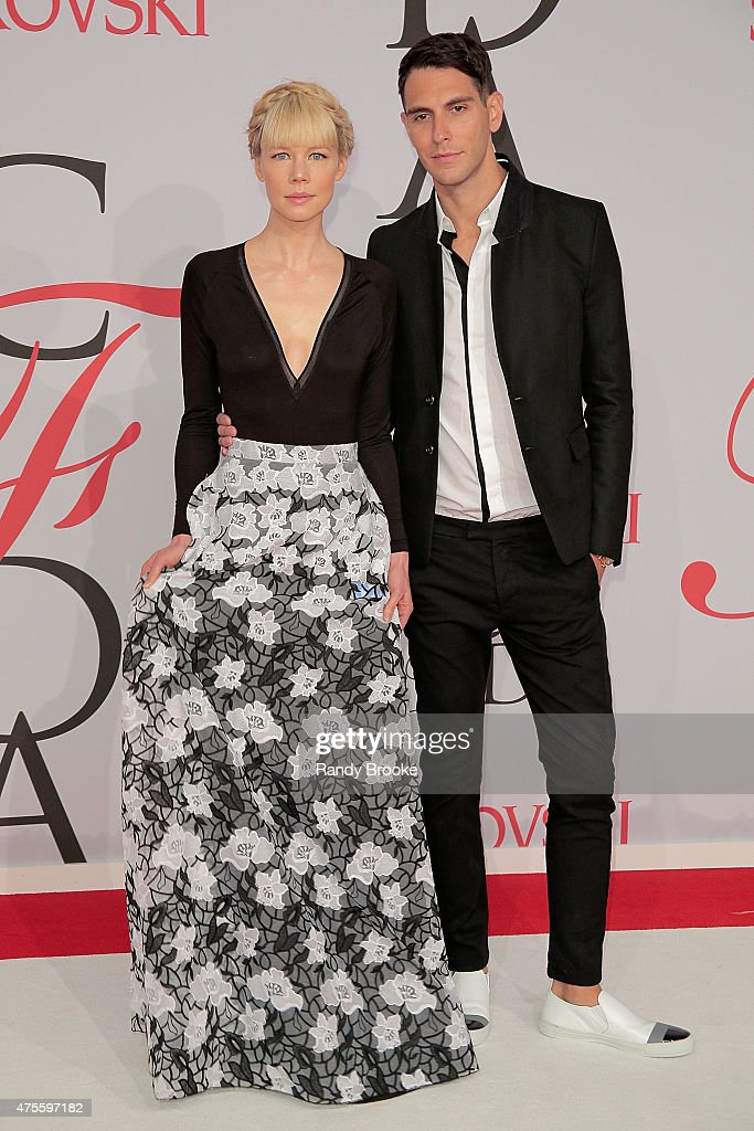 Designer Erin Fetherston and her husband attends the 2015 CFDA Fashion Awards at Alice Tully Hall at Lincoln Center on June 1, 2015 in New York City.