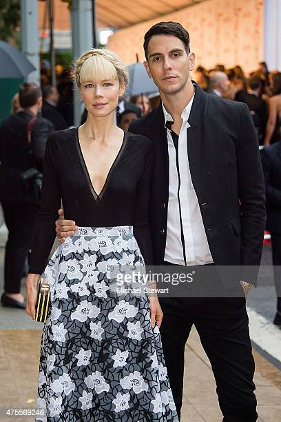 Designer Erin Fetherston and musician Gabe Saporta attend the 2015 CFDA Fashion Awards Sightings at Alice Tully Hall at Lincoln Center on June 1 2015...