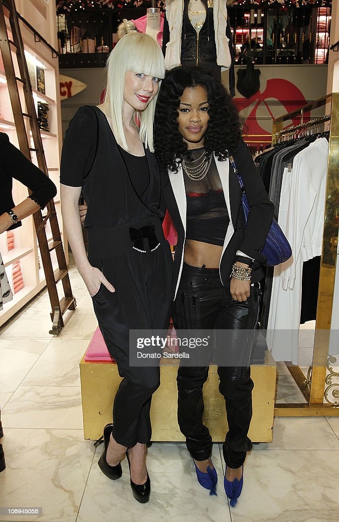 Designer Erin Fetherston and singer <a gi-track='captionPersonalityLinkClicked' href=/galleries/search?phrase=Teyana+Taylor&family=editorial&specificpeople=4224306 ng-click='$event.stopPropagation()'>Teyana Taylor</a> attend Juicy Loves Glamour Girls by Erin Fetherston Launch hosted by Vogue at Juicy Couture on November 17, 2010 in Beverly Hills, California.