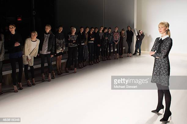 Designer Erin Fetherston attends the Erin Fetherston show during MercedesBenz Fashion Week Fall 2015 at The Salon at Lincoln Center on February 18...