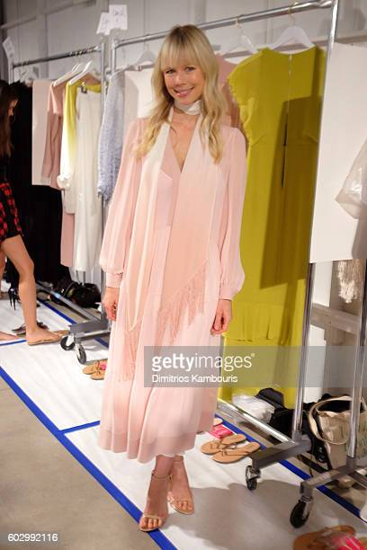 Designer Erin Fetherston poses backstage at the Erin Fetherston fashion show during New York Fashion Week The Shows September 2016 at The Gallery...