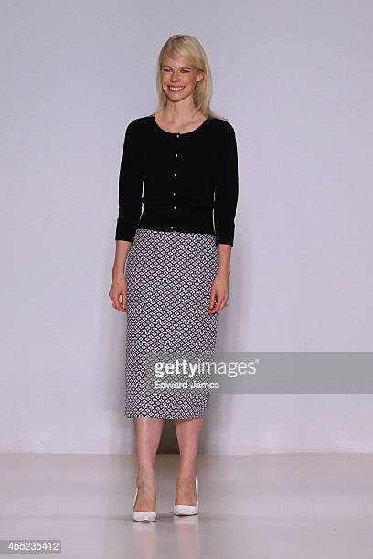 Designer Erin Fetherston walks the runway at Erin Fetherston during MercedesBenz Fashion Week Spring 2015 at The Salon at Lincoln Center on September...